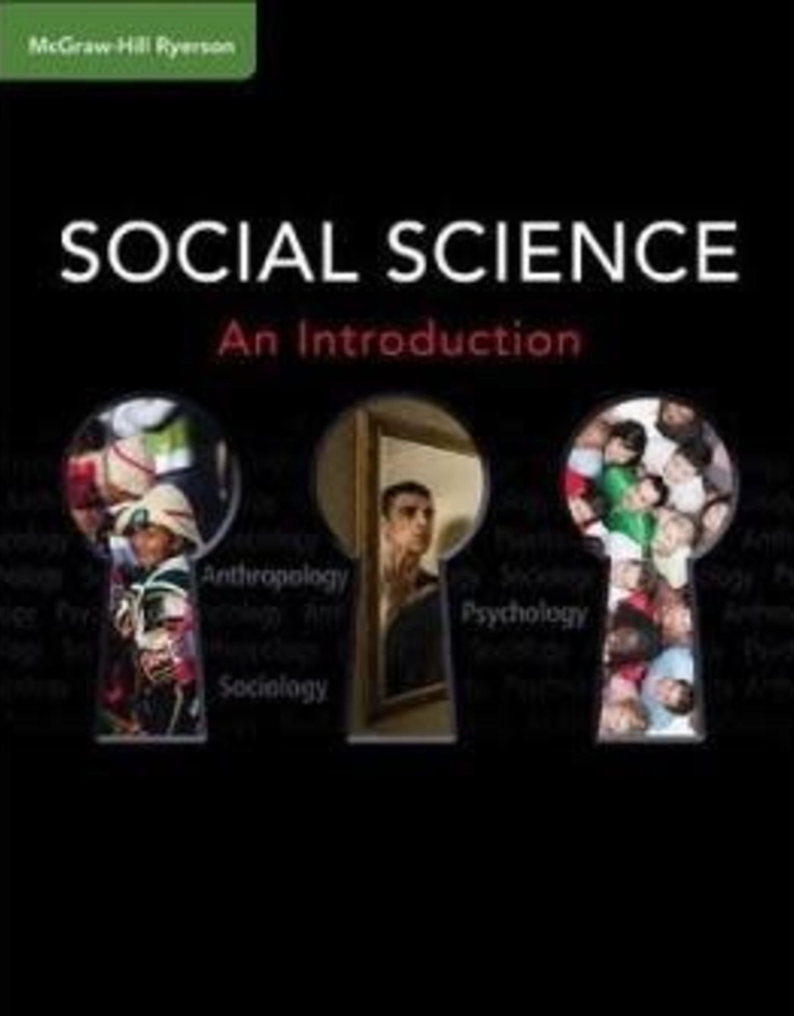 Anthropology, Psychology & Sociology, Grade 11, HSP3U